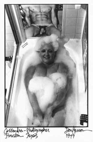 Woman in bathtub by Don Herron