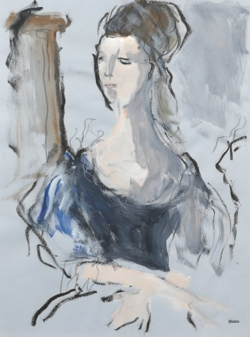 Richard Haines, Portrait of Woman in Blue
