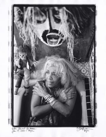 Ellen Stewart in bathtub by Don Herron