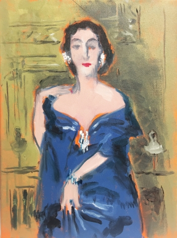 Painting of woman by Richard Haines