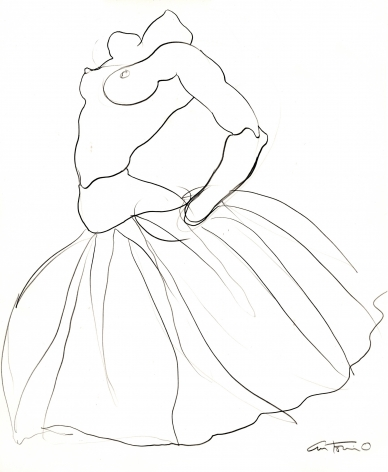 Drawing of ballerina by Antonio Lopez