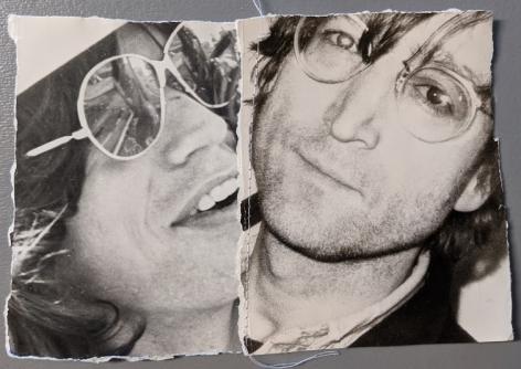 Christopher Makos, Untitled Sewn Portrait Lennon