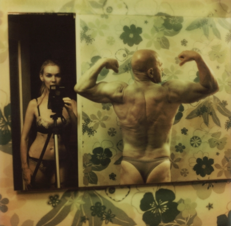 Man and woman in mirror by Aneta Bartos