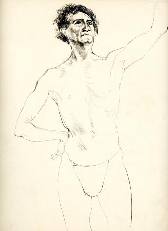Bernard Perlin, Japanese Male Nude (Front View)