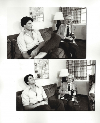 Christopher Makos, Christopher Reeve and Andy