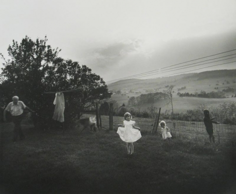 Girl in white dress by Sally Mann