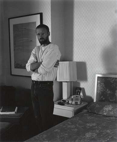 Man in hotel by Stephen Barker