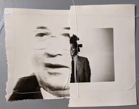 Christopher Makos, Untitled Sewn Portrait Gorbachev
