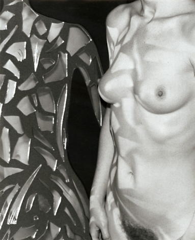 Woman with shards of mirror by Marcel Marien