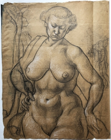 Bernard Perlin, Study For Female Nude