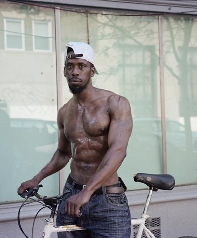 Man on bike by Hannah Price