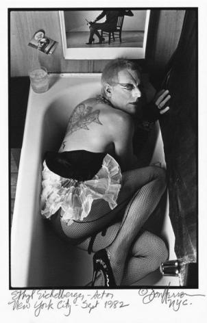 Ethyl Eichelberger in bathtub by Don Herron