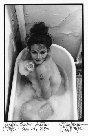 Jackie Curtis in bathtub by Don Herron