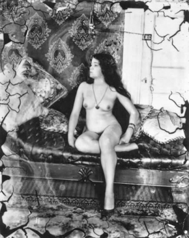 Nude woman in room by E. J. Bellocq