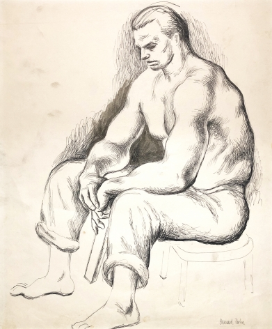 Bernard Perlin, Seated Man