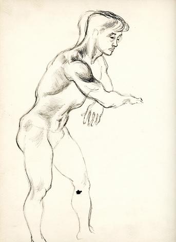 Bernard Perlin, Japanese Male Nude (Side View)