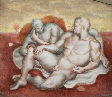 Bernard Perlin, Two Male Nudes
