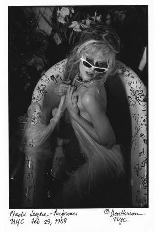 Phoebe Leger in bathtub by Don Herron