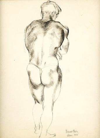 Bernard Perlin, Japanese Make Nude (Rear)