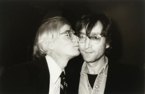 Christopher Makos, Warhol Kissing Lennon