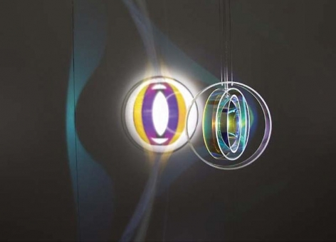 Olafur Eliasson. Colour Space Embracer, 2005.HIM Lamp, motor, Room size for Installation, 402.5 x 356 cm.Courtesy of the artist & PKM Trinity Gallery.