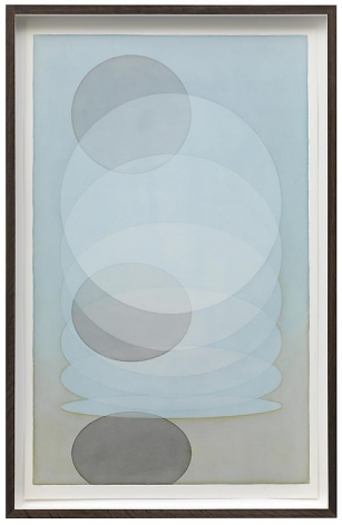 Olafur Eliasson. Breathing blue, 2012. Watercolor and pencil on paper, 114.4 x 73.4 x 8 cm
