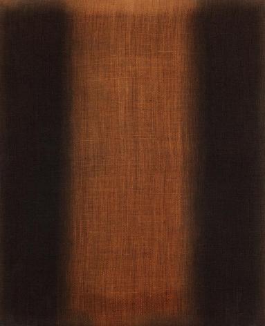 Yun Hyoung-keun. Umber-Blue, 1975. Oil on linen, 80.5 x 65.2 cm. Courtesy of Yun Seong-ryeol & PKM Gallery.