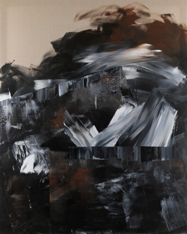 Shin Minjoo. Uncertain Emptiness 17009, 2017.Acrylic on canvas, 227 x 182 cm. Courtesy of the artist & PKM Gallery.