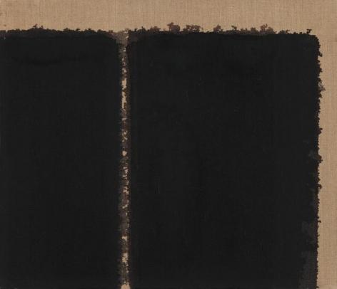 Yun Hyong-keun. Burnt Umber & Ultramarine, 1993. Oil on linen, 45.5 x 53 cm. Courtesy of Yun Seong-ryeol & PKM Gallery.