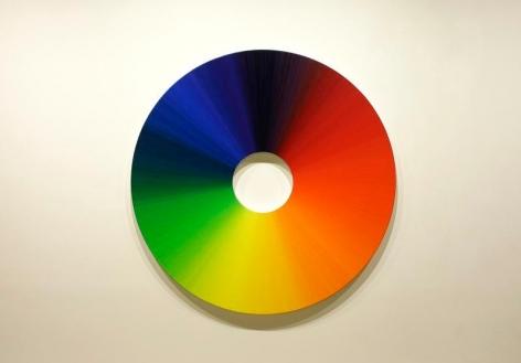Olafur Eliasson. Color experiment no.7 (360 colors), 2009. Oil on canvas, Diameter 180 cm