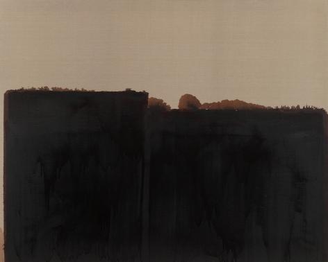 Yun Hyong-keun.Burnt Umber & Ultramarine, 1991-1993,Oil on linen, 181.8 x 227.2 cm.Courtesy ofPKM Gallery.