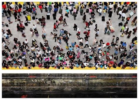 Sangbin IM. Subway 1, 2012. Lambda print/diasec, 32.4 x 177.8 / 88.9 x 177.8 cm