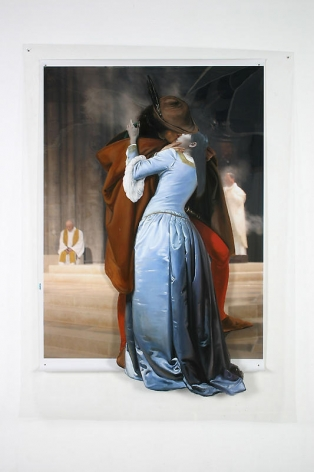 Joonsung Bae. The Costume of Painter-F.Hayez(Kiss), 2006.Lenticular, 94 x 69 cm.Courtesy of the artist & PKM Gallery.