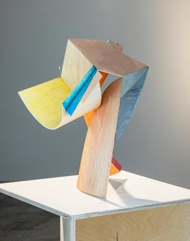 Koo Hyunmo.꽃Flower, 2021, Balsa, acrylic paint, 35(h) cm.Courtesy of the artist & PKM Gallery.