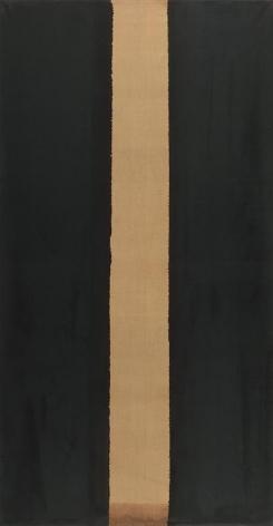 Yun Hyong-keun. Burnt Umber & Ultramarine, 1986. Oil on linen, 265 x 140.5 cm. Courtesy of the artist and PKM Gallery.