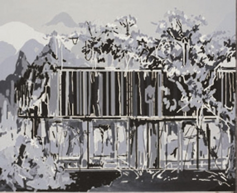 Liu Wei. Untitled, 2006. Oil on canvas, 181 x 222 cm.Courtesy of the artist & PKM Gallery.