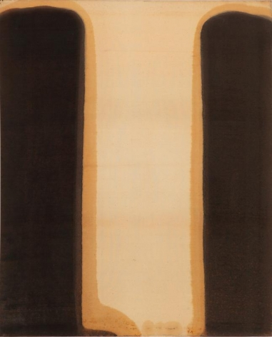Yun Hyong-keun. Umber-Blue, 1978. Oil on cotton, 175.5 x 132.3 cm. Courtesy of Yun Seong-ryeol and PKM Gallery.