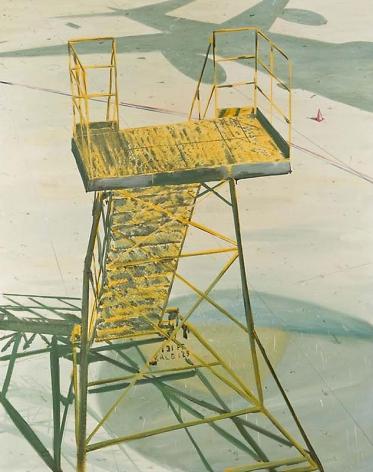 Jiwon Kim. Landing, 2007. Oil on linen, 182 x 227 cm.Courtesy of the artist & PKM Gallery.