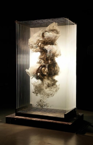 Xia Xiaowan. Scholar's Rock, 2008.Ink and pencil on glass, 163 x 96.7 x 52 cm, 12 layers of 6mm glass.Courtesy of the artist & PKM Gallery.