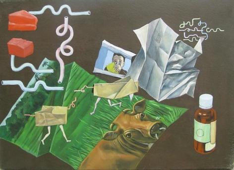 Suejin Chung. Nameless Place -2, 2011. Oil on canvas, 33 x 24cm.