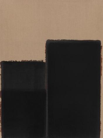 Yun Hyong-keun. Burnt Umber & Ultramarine, 1991. Oil on linen, 130.5 x 97.5 cm. Courtesy of Yun Seong-ryeol & PKM Gallery.