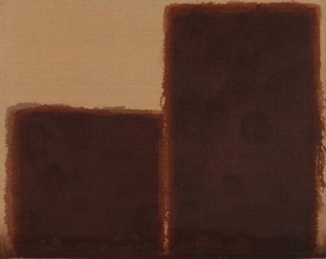 Yun Hyong-keun. Burnt Umber & Ultramarine, 1981-1984. Oil on linen, 91.8 x 115.2 cm. Courtesy of Yun Seong-ryeol & PKM Gallery.
