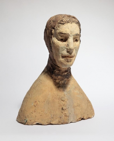 Kwon Jin Kyu. Woman with a scarf, circa 1969. Terracotta, 45.0(h) x 36.0 x 26.0 cm. Private Collection. Courtesy of Kwon Jin Kyu Commemoration Foundation & PKM Gallery.