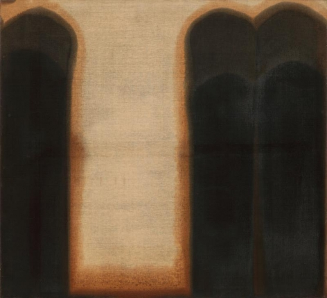 Yun Hyong-keun. Umber-Blue, 1975-1976, Oil on linen, 180 x 200.3 cm. Courtesy of Yun Seong-ryeol & PKM Gallery.