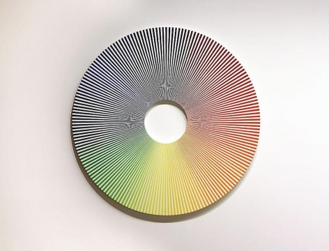 Olafur Eliasson. Colour experiment no. 6 (180 colours with white), 2009. Oil on canvas, 180 diameter. Courtesy of the artist & PKM Trinity Gallery. © 2009 Olafur Eliasson.