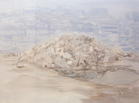 Lee Je. A Pile 2, 2010. Oil on canvas, 150 x 200 cm. Courtesy of the artist & PKM Gallery.