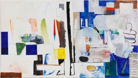 HYUNJIN BEK. Painting 2-01 for UnemploymentBankruptcyDivorceDebtSuicide Rest Stop, 2017, Oil on oil paper for oil paint, 130 x 230 cm (Frame: 137.2 x 237 x 4.5 cm). Courtesy of the artist & PKM Gallery.