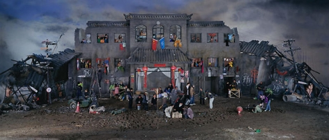 Wang Qingsong. Dream of Migrants, 2005. C-print, 170x 400 cm.Courtesy of the artist & PKM Gallery.