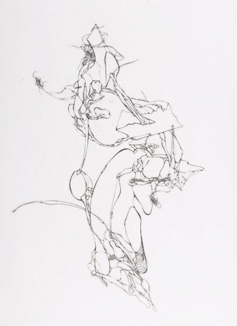 Lee Bul, Monster Drawing, 2003. India ink on semi-lucent paper, 114.3 x 86.3 cm.