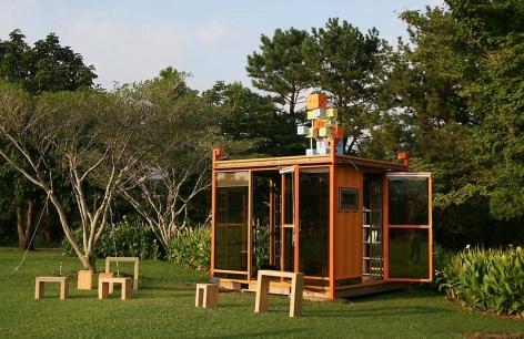 Bae Young-whan. Tomorrow, 2009. Installaton view of BotanicalGarden Yeomiji, Jeju Island, Korea.